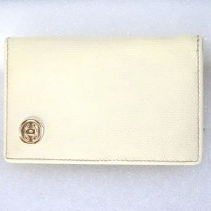 Auth CHANEL Leather Wallet Coco Bifold #9970134